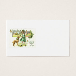 Mädchen-Kleeblatt-vierblättriges Kleeblatt Visitenkarte