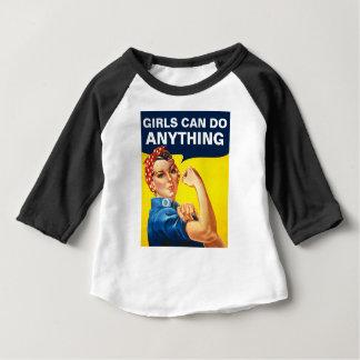 Mädchen können alles tun baby t-shirt