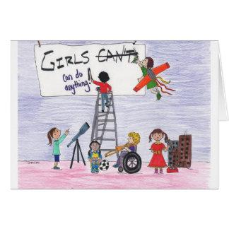 Mädchen können alles tun! karte