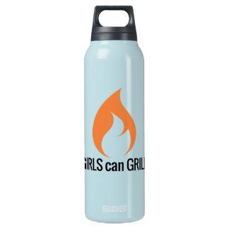 Mädchen können grillen isolierte flasche