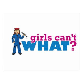 Mädchen können nicht, WAS? ColorizeME fertigen kun Postkarte