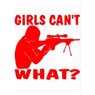 Mädchen können nicht, WAS? Trieb? Postkarte