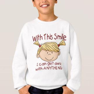 Mädchen-Lächeln Sweatshirt