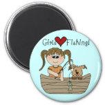 Mädchen-Liebe-Fischerei Magnete