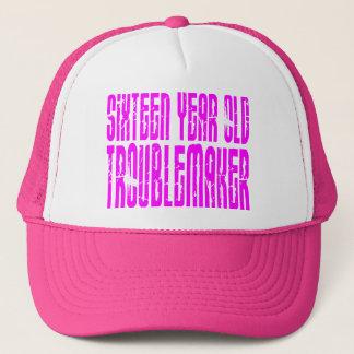 Mädchen-lustiger Geburtstag sechzehn Truckerkappe
