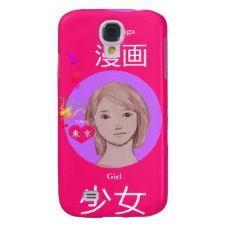 Mädchen manga Japan Galaxy S4 Hülle