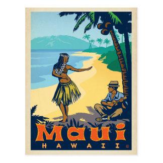 Mädchen Mauis, Hawaii | Hula u. Ukele Postkarte