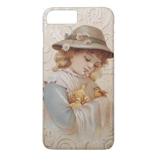 Mädchen mit Baby-Enten iPhone 7 Plus Hülle