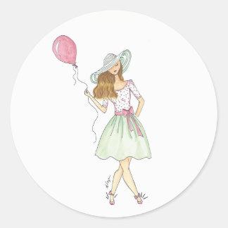 Mädchen mit Ballon - Aufkleber