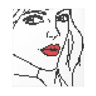 Mädchen mit den roten Lippen Notizblock