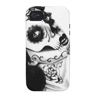 Mädchen mit der Hals-Tätowierung durch Carissa-Ros Case-Mate iPhone 4 Hüllen