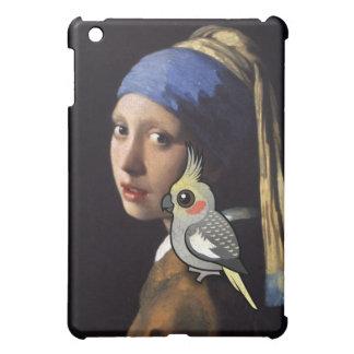 Mädchen mit einem PerleCockatiel iPad Mini Hülle