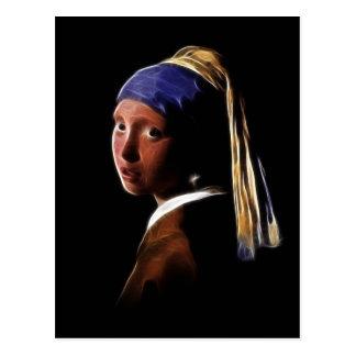 Mädchen mit einem Perlen-Ohrring Digital, die Postkarte