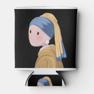 Mädchen mit einem Perlen-Ohrring Dosenkühler