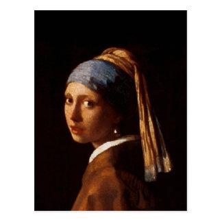 Mädchen mit einem Perlen-Ohrring durch Johannes Postkarte