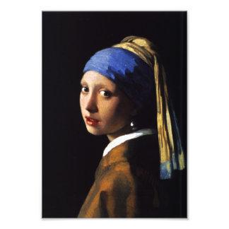 Mädchen mit einem Perlen-Ohrring-Foto-Druck