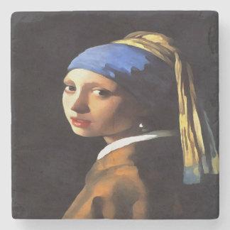 Mädchen mit einem Perlen-Ohrring nach Johannes Steinuntersetzer