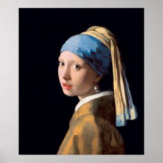 Mädchen mit einem Perlen-Ohrring-Plakat Poster
