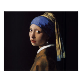 Mädchen mit einem Perlen-Ohrring Poster