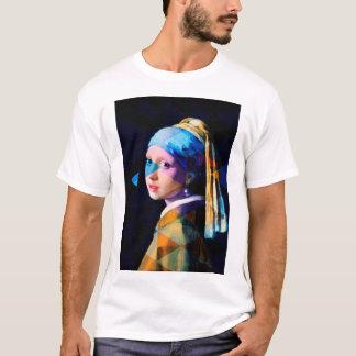 Mädchen mit einem Perlenohrring WIEDER GEMISCHT T-Shirt