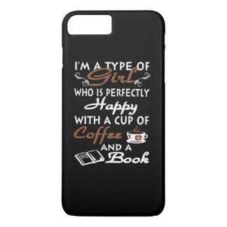 Mädchen mit einem Tasse Kaffee und einem Buch iPhone 8 Plus/7 Plus Hülle