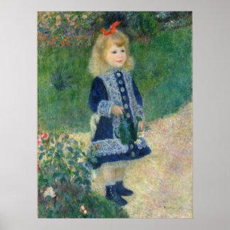Mädchen mit einer Gießkanne durch Auguste Renoir Poster