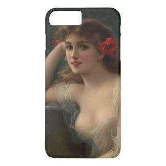 Mädchen mit einer Mohnblume iPhone 8 Plus/7 Plus Hülle