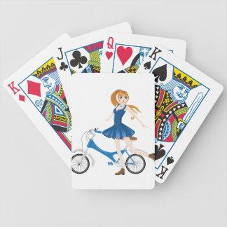 Mädchen mit Fahrrad 2 Bicycle Spielkarten