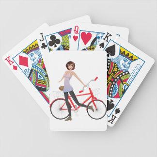 Mädchen mit Fahrrad Bicycle Spielkarten