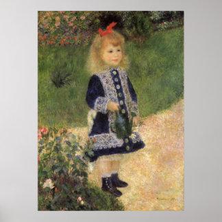 Mädchen mit Gießkanne, Renoir, Poster