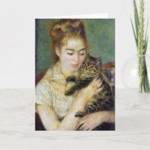 Julie Manet mit Katze Renoir Karte