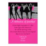 Mädchen-Nacht heraus 8,9 X 12,7 Cm Einladungskarte