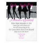 Mädchen-Nacht heraus Individuelle Einladung