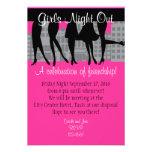 Mädchen-Nacht heraus Personalisierte Einladungen