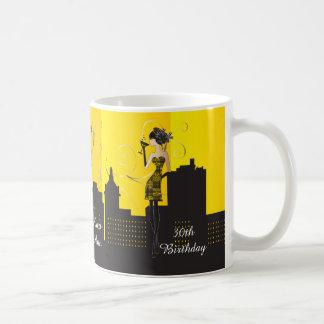 Mädchen-Nachtheraus - Gelb Kaffeetasse