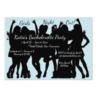 Mädchen-Nachtheraus Junggeselinnen-Abschied 12,7 X 17,8 Cm Einladungskarte