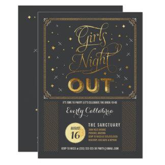 Mädchen-Nachtheraus Junggeselle-Party Einladung