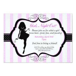 Mädchen-Nachtheraus Schmuck-Party Einladung