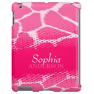 Mädchen nannten rosa grafischen Tierdruck ipad Fal iPad Hülle