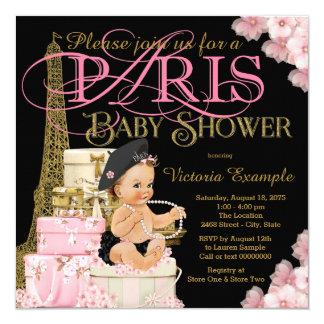 Mädchen-Paris-Babyparty-Einladungen Karte