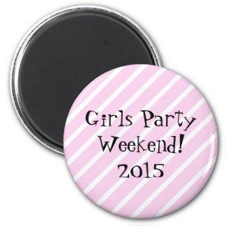 Mädchen-Party-Wochenende Runder Magnet 5,1 Cm
