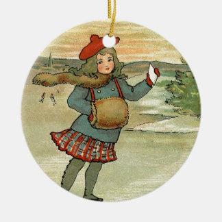 Mädchen Patinando Keramik Ornament