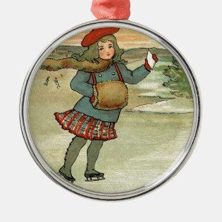 Mädchen Patinando Silbernes Ornament