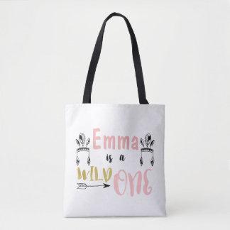 Mädchen-personalisierte wilde Baby-Tasche Tasche