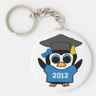 Mädchen-Pinguin Blauer u. Weiß-Absolvent 2012 Schlüsselanhänger