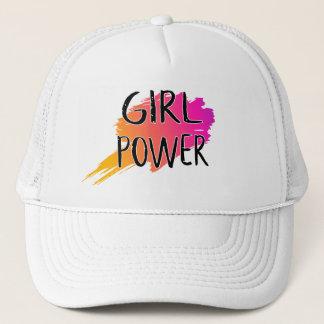 Mädchen-Power-feministisches Truckerkappe