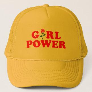 Mädchen-Power-Gelb-Fernlastfahrer-Hut Truckerkappe