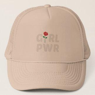 Mädchen-Power mit Rosen-Logo Truckerkappe