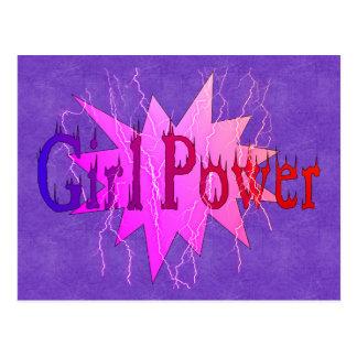 Mädchen-Power Postkarte