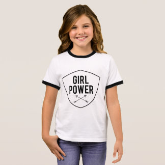 Mädchen-Power Ringer T-Shirt